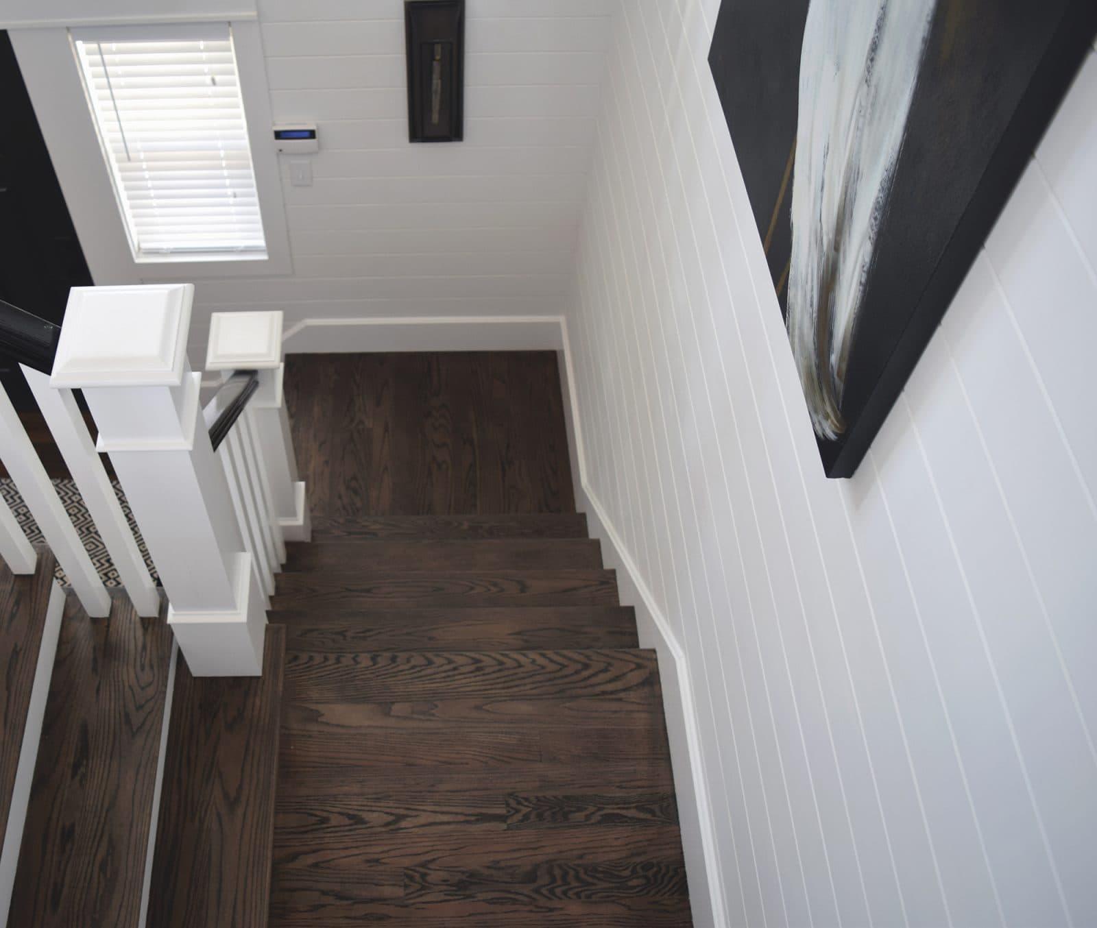 Bay Side Beach House Staircase with custom Esplanade Floor Treads