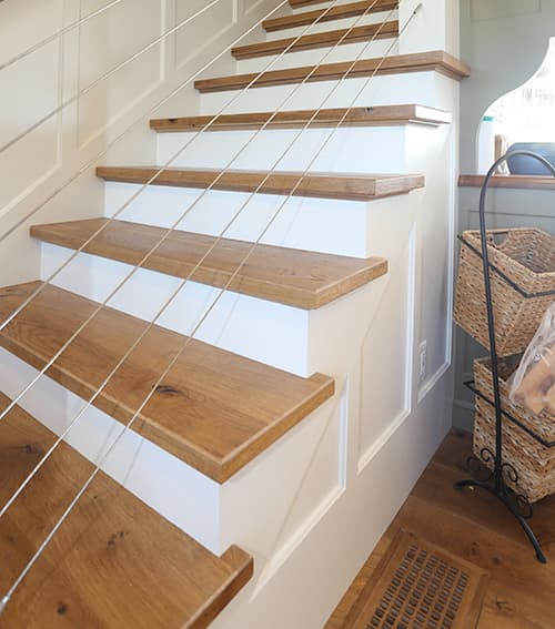 Seaside Paradise, matching Chestnut Hill Stair Treads