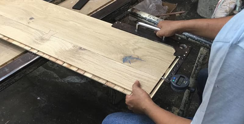 Building Structured Flooring, Sawyer Mason Wide Plank - Quality Control