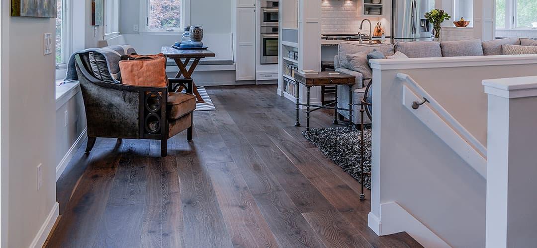 Wide Plank Floors Structured Dark Flooring Sawyermason