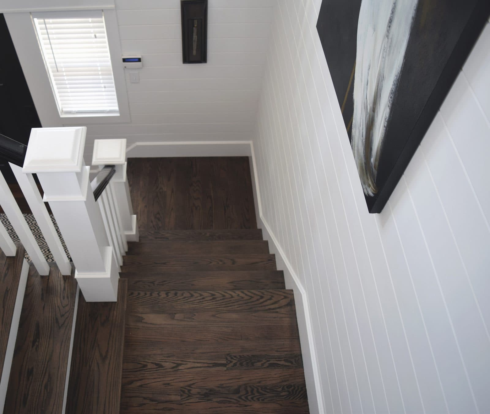 Bay Side Beach House Staircase with custom Esplanade Floor Treads
