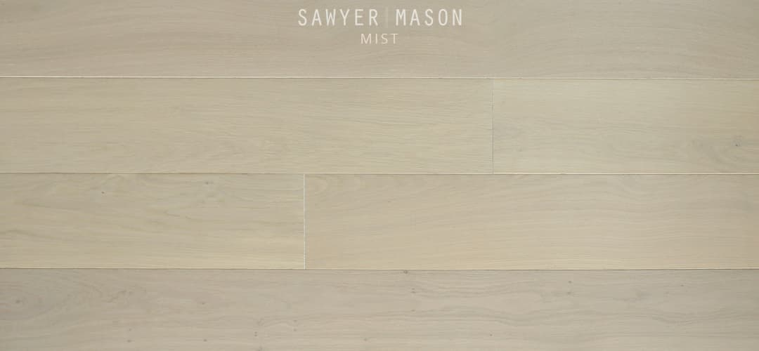 Prefinished Wood Flooring, Structured Wide Plank Mist by Sawyer Mason
