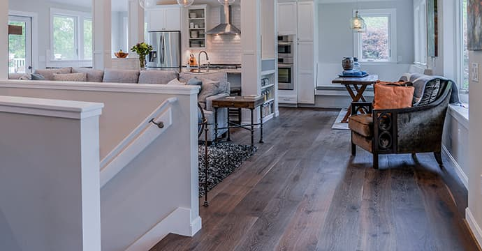 Dark Wood Floors, Structured Engineered Sawyer Mason Beacon