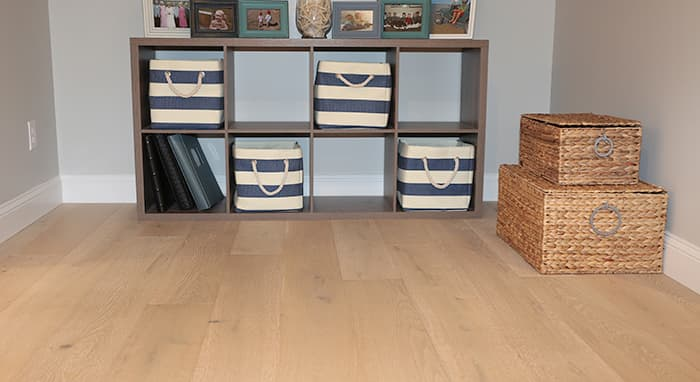 Dune Wide Plank Structured Flooring installed in Cozy Cottage Renovation