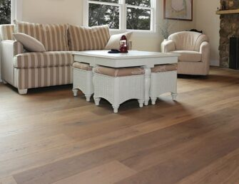 Prefinished hardwood wide plank flooring
