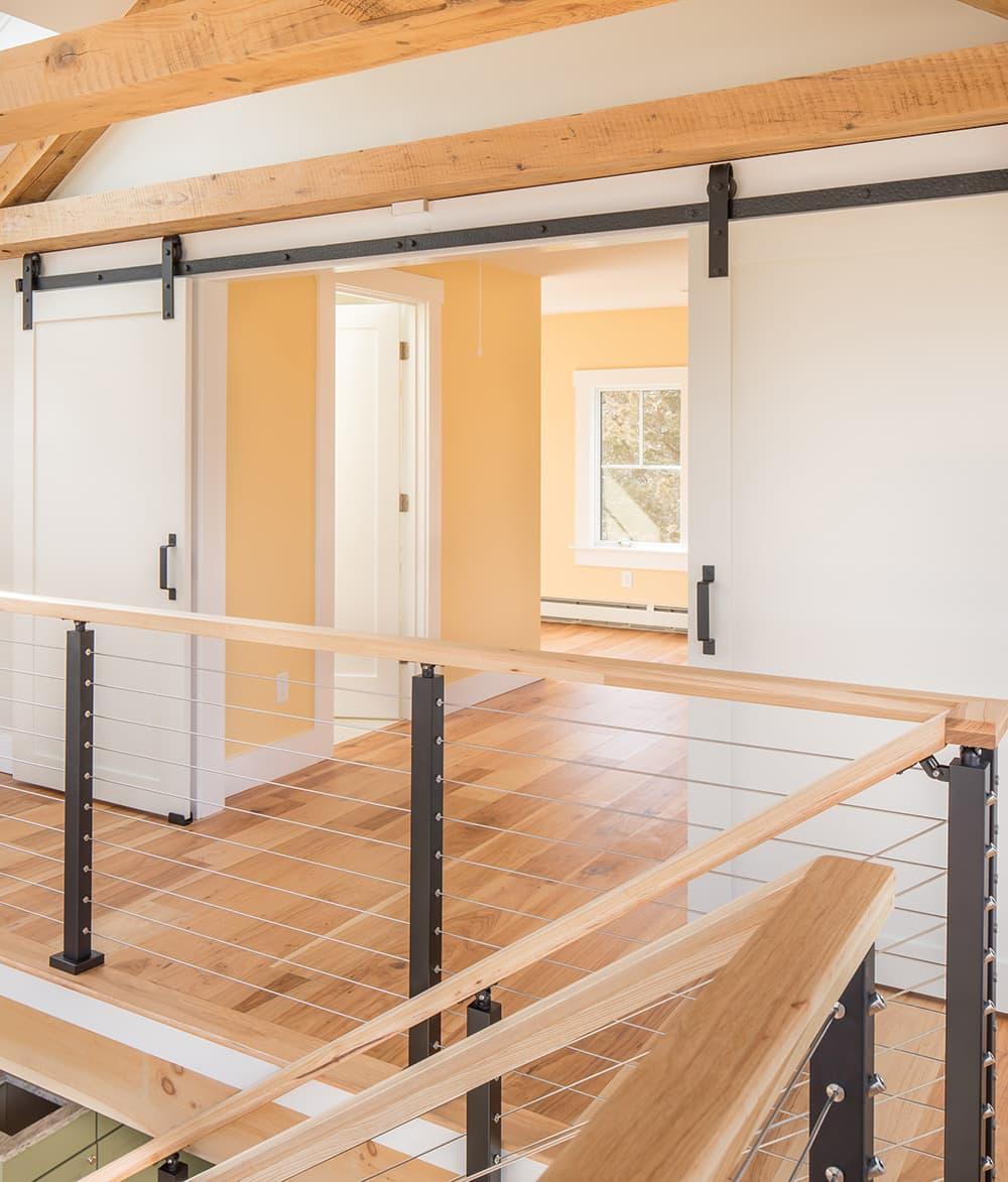 Barn Doors Open Open Concept Hickory Pecan Installation